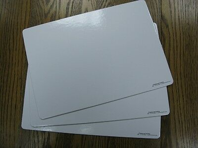 Pupil Whiteboards Plain 3mm Thick A4 Dry Wipe Erase Teach Aid Literacy Numeracy