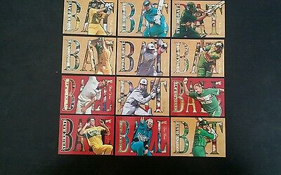 Select 1997/1998 Cricket Trading Cards Strike Rate Insert Set (12)