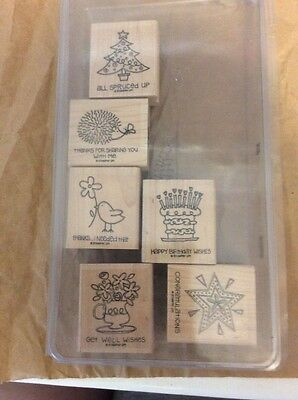 stampin up wood stamp set - fun and fast notes