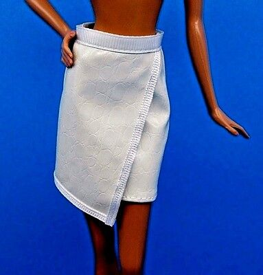 2016 Barbie Fashionistas White Faux Leather Skirt Also Fits Model Muse & Petite
