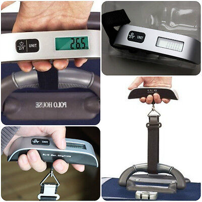 Digital Electronic Travel Luggage Hanging Scale Overload Indicator LCD Display