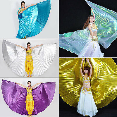 Shiny Belly Dance Wings Costume Shining ISIS WINGS Blue Gold Purple White Silver