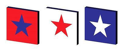 Red White And Blue Star Canvas Wall Art Plaques/pictures