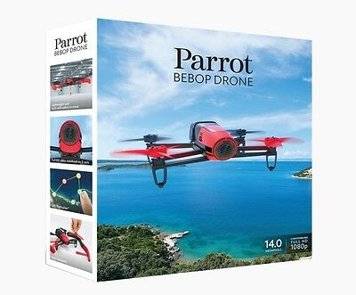 NEW Parrot Bebop Quadcopter Drone with HD 1080p Video Camera GPS Red