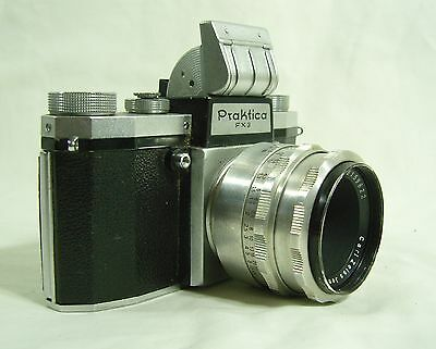 Vintage Praktica FX3 35mm Camera with Carl Zeiss Jena Lens Tessar 2.8/50