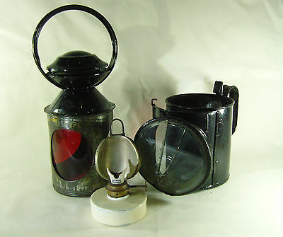 Rare Vintage 3 aspect Railway Lamp stamped LNER on side