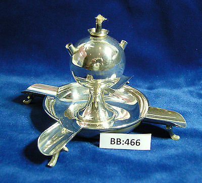 Unusual vintage h/m Solid Silver ashtray with Cigar lighter London 1904 BB466