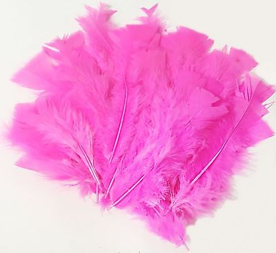 PINK Craft Feathers Decor Fluffy Embellishment Wedding Easter Scrapbooking Party