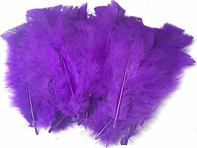 PURPLE Craft Feather Decoration Fluffy Embellishment Wedding Easter Scrapbooking