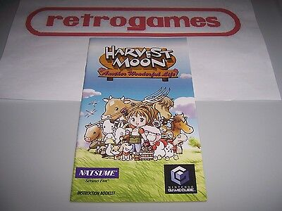 Harvest Moon Another Wonderful Life Instruction Manual Only Nintendo Gamecube