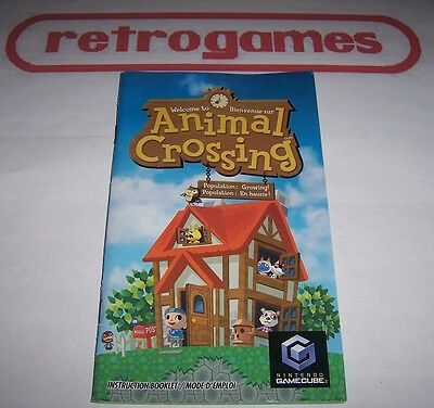 Animal Crossing Instruction Manual Only Nintendo Gamecube