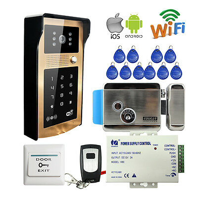 New Wireless Wifi Keypad Code Video Intercom Door Phone Doorbell Electric Lock