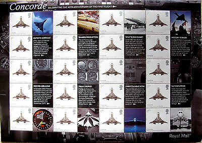 GB 2009 Royal Mail Smiler Sheet 40th Anniv of First Flight of Concorde LS57 (16)