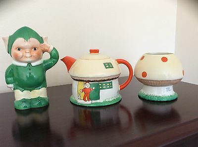 Exquisite Shelley by Mabel lucie attwell boo boo tea set matching reg numbers