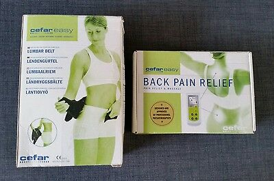 Cefar easy TENS Machine Back Pain Relief and massage with belt rehab