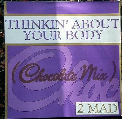 """2 Mad Thinking about Your Body 12"""" vinyl single record. BLR37T"""