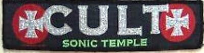 THE CULT 'SONIC TEMPLE' vintage strip/ armband sew on patch