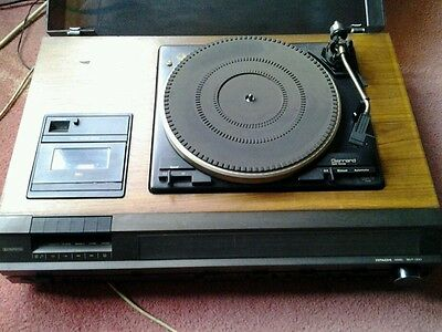 1970s Hitachi stereo record player with cassette player