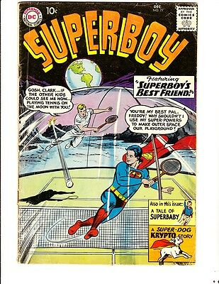 Superboy 77 (1959): FREE to combine- in Good+  condition
