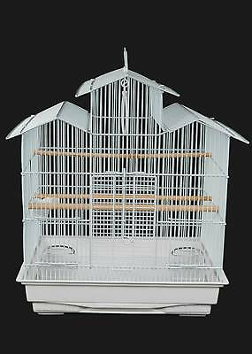 Parakeet, Cockatiel, Budgie, Lovebirds, Finches, Conures, Canary Bird Cage White