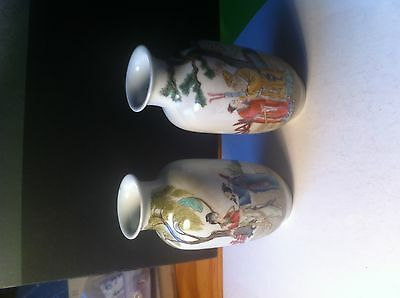 A Pair Of P0Rcelain Japanese Vases
