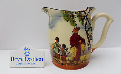 Royal Doulton Seriesware Jug The Gleaners English Old Scenes
