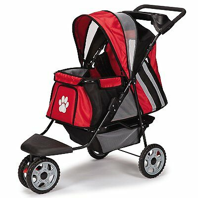 Guardian Gear Roadster II Stroller, Red Holds pets up to 30 lbs snack tray NIB
