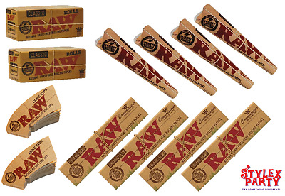 Raw Smoking Rolling Paper Set Raw Rolls Raw Cones Raw Cone Filter Tips Bundle