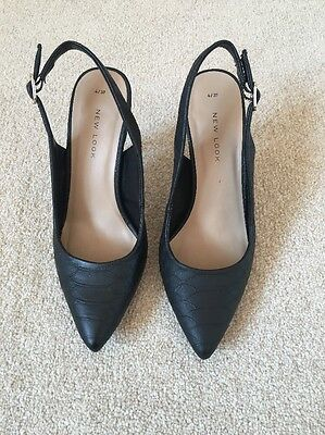 Black New Look Shoes high Heels Size 4
