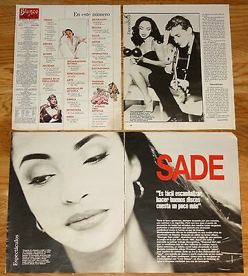 SADE 1992 5 page spain magazine article clippings photos singer