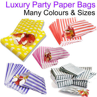 """Paper Party Bags 7"""" x 9"""" Candy Cart Pick And Mix Wedding Medium Gift Sweet Treat"""