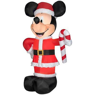 10.5 ft. Airblown Lighted Giant Mickey Mouse Christmas Santa Outdoor Inflatable