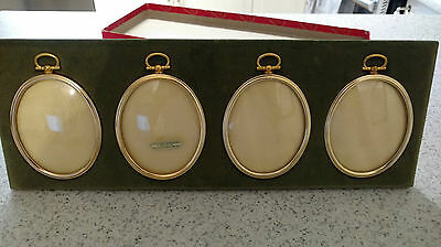 rare Collector Vintage J. levi Co. green velvet picture photo frame