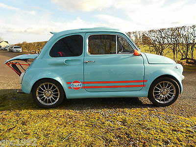 1971 FIAT 500 F ABARTH RECREATION Leather upholstery, High quality finish, UK V5