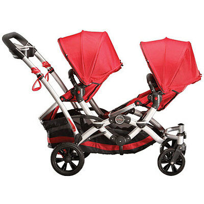 Contours Options Double Buggy/Pushchair in Red and Black