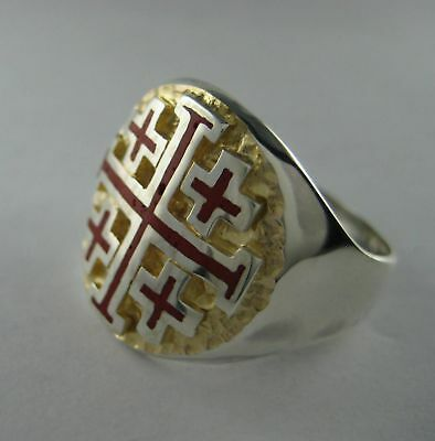Solid silver ring - Order of Holy Sepulchre - 2430-R
