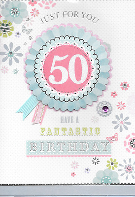 Isabels Garden,age 50Th Birthday Card,3D Handmade, Top Quality,(M6)
