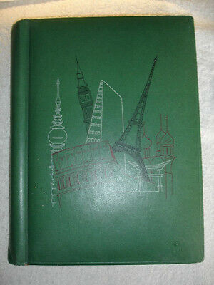 A postcard album with a 80 mixed B&W, Colour & Photo postcards of UK