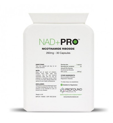 NAD+ PRO Nicotinamide Riboside n(R) NAD+Booster Nootropic * BETTER THAN NIAGEN!