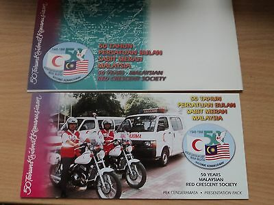 Malaysia 1998 8 May Presentation Pack 50th Anniv Malaysian Red Crescent Society