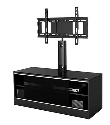 """LED/LCD/Plasma Black Satin Finish MDF TV Stand with TV Mount up to 52"""""""