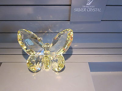 Swarovski Crystal Yellow Jonquil Butterfly Mib Mint Boxed Retired 2008 855690