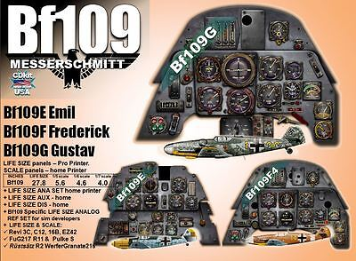 Bf109 MESSERSCHMITT SERIES COCKPIT instrument panel CDkit