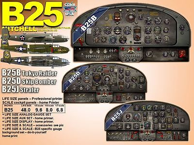 B25 MITCHELL SERIES COCKPIT instrument panel CDkit
