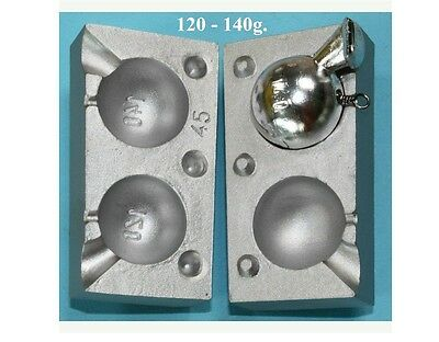 Cannon Ball Lead Weight Mould -Boat ,Carp Fishing ,Sea Fishing 120-140gr