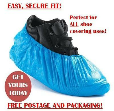 Disposable Plastic Overshoes Shoes Carpet Covers Shoe Protector PACK OF 10,20,30