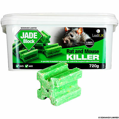 36 x 20g Jade Poison Block Bait - Rodent Mice Mouse Rat - Professional Strength
