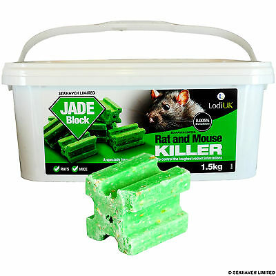 150 x 20g Jade Poison Block Bait - Rodent Mice Mouse Rat - Professional Strength