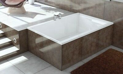 Modern Acrylic 2 Person Bath Luxury White Bathtub 1800x1200mm Legset Waste