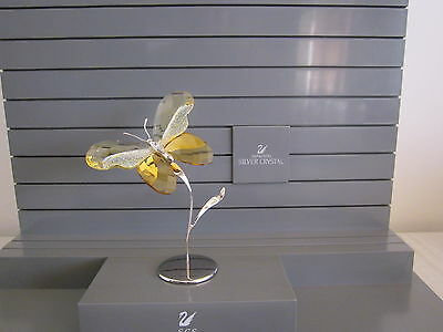 Swarovski Paradise Almina Jonquil Butterfly Mint Retired 2009 861934 In Boxes